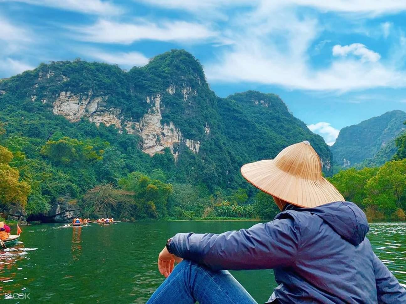 man looking beyond Hoa Lu